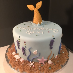 Diving Mermaid Cake